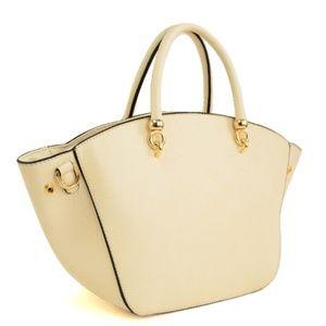 Women Cream Handbag